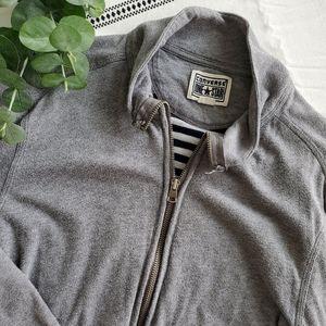 Converse   Knit Gray Zip Up Jacket